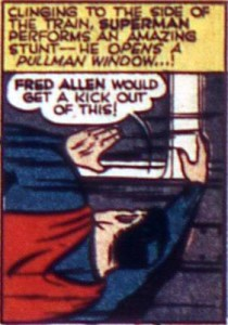 "A reference to Fred Allen's ""Pullman window"" gag"