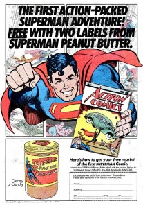 Superman Peanut Butter advertisement