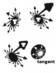 Tangent Comics unused logos 4