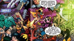 Tangent characters in INFINITE CRISIS #5