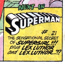 SUPERMAN #21 blurb from SUPERMAN #20
