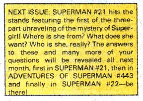 SUPERMAN #21 chatter from SUPERMAN #20