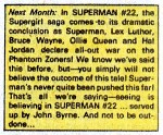 SUPERMAN #22 chatter from ADVENTURES OF SUPERMAN #444