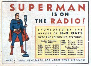 Supermen radio ad from ACTION COMICS #24
