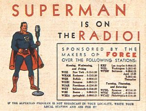 Supermen radio ad from ACTION COMICS #25
