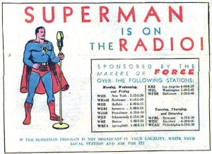 Supermen radio ad from ACTION COMICS #26